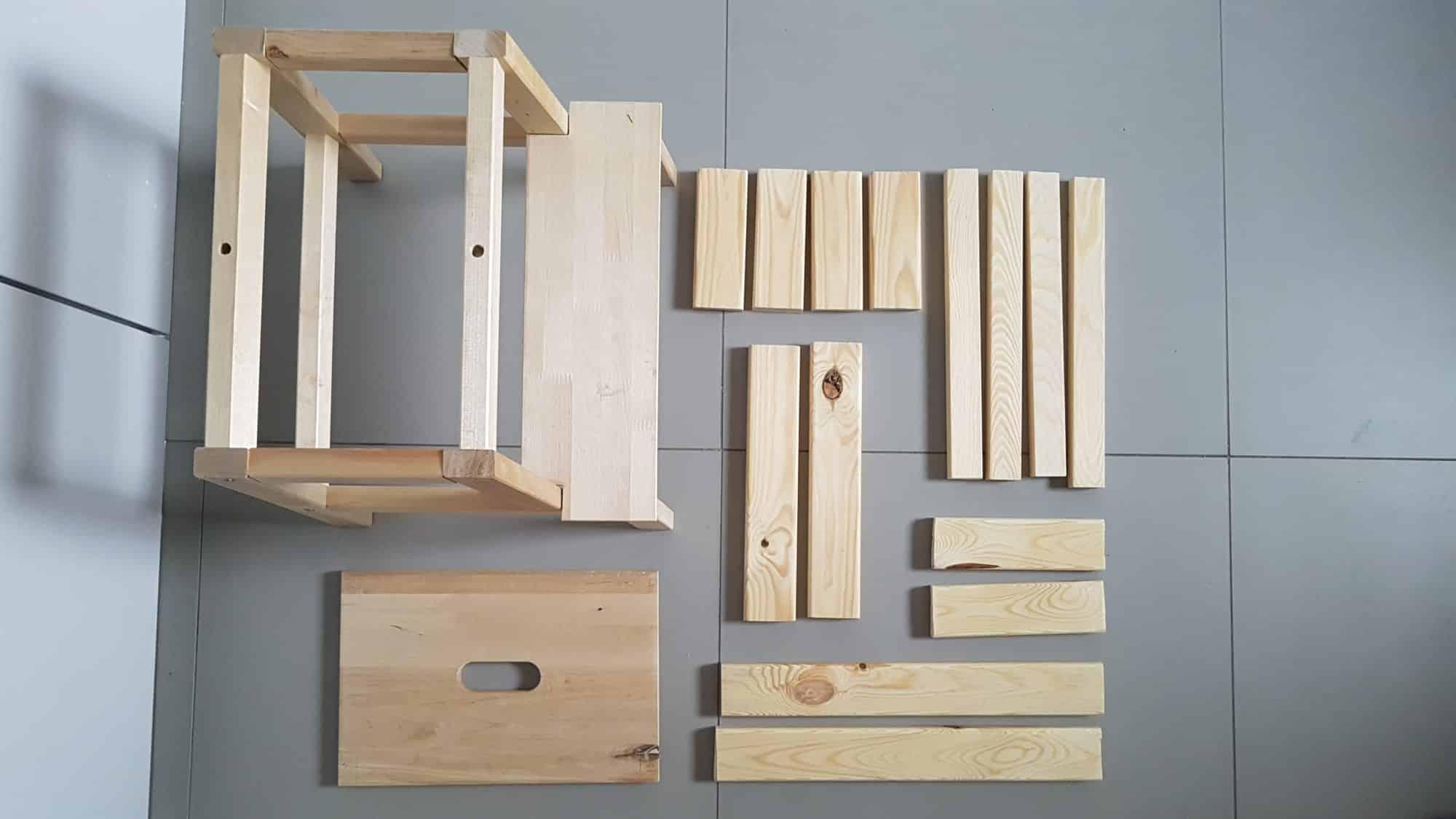 elementy do budowy podestu