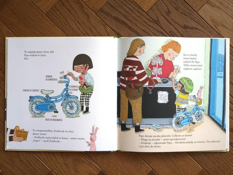 książka dla dzieci pepe jeździ na rowerze