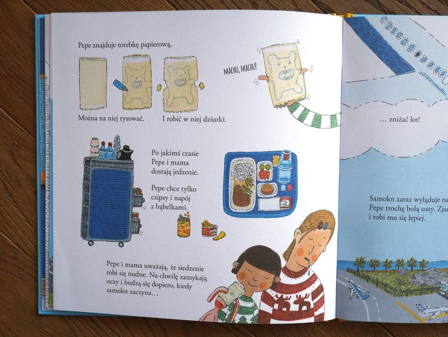książka dla dzieci pepe leci samolotem