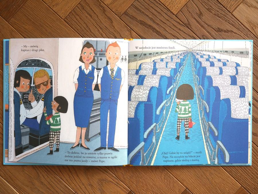 pepe leci samolotem książka dla dzieci