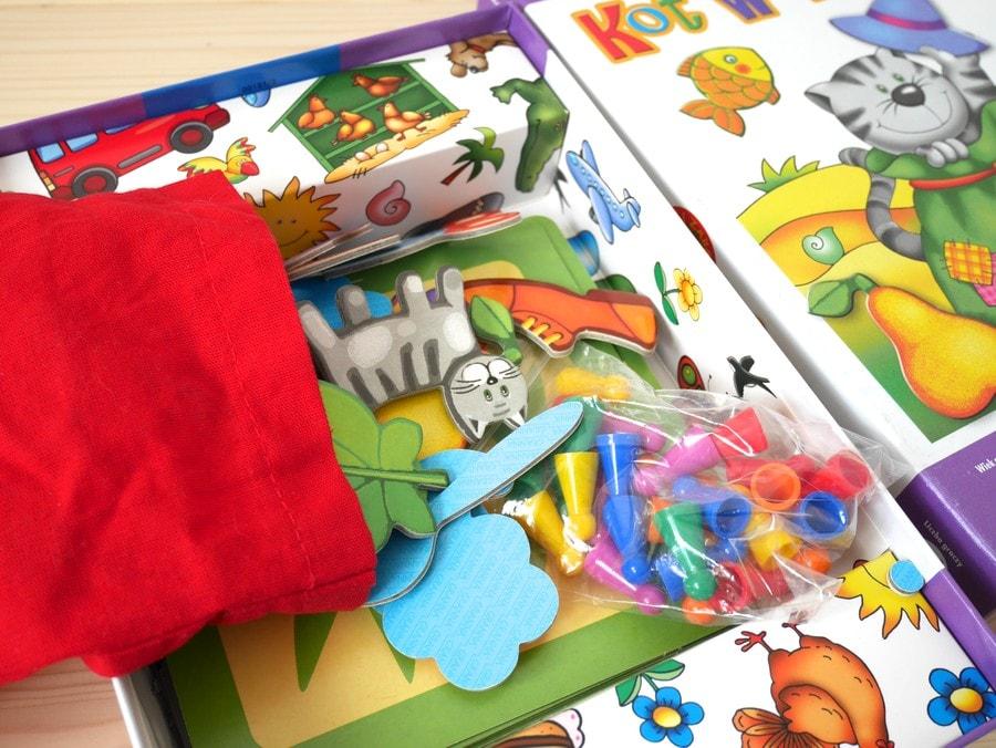 kot w worku gra dla trzylatków