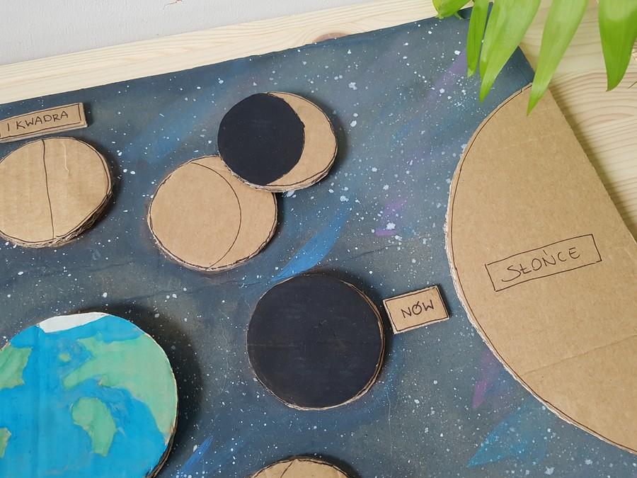 puzzle fazy Księżyca dla dzieci
