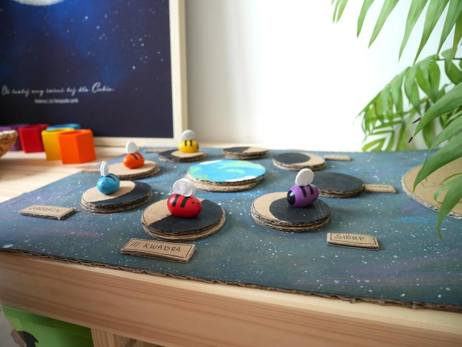 układanka fazy księżyca dla dzieci